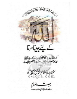 Download allah k liye jeena marna pdf book by author mufti taqi usmani