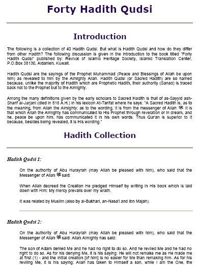 Forty hadith qudsi download pdf book