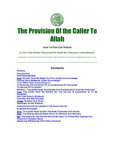 The provision of the caller to allah download pdf book