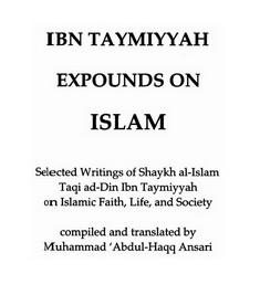 Expounds on islam download pdf book writer taqi ad din ibn e taymia