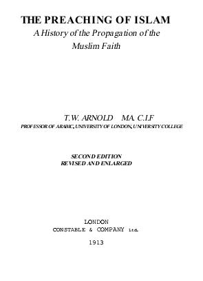 The preaching of islam download pdf book